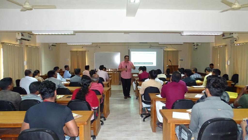 Dr. M Ramanunni handling session on 08-07-2019