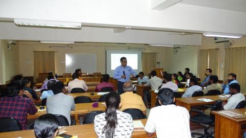 Dr.Saji Gopinath CEO, Kerala Startup Mission handling session on 09-07-2019