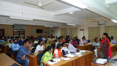 Dr.Sangeetha Prathap, Assistant professor, CUSAT, Kochi explained about business plan preparation on 09-07-2019